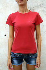 NORTH SAILS Glittered Logo Sailing RED T SHIRT CREW NECK TOP COTTON S SMALL AUTH