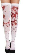 Ladies Bloody Stained Stocking Zombie Halloween Nurse School Fancy Dress.