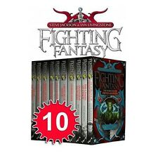 Fighting Fantasy Books 1 to 10 Set Collection Steve Jackson and Ian Livingstone