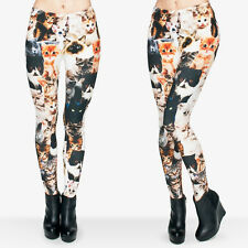 Cat mashup soft leggings -  8 - 12 UK, cat lady, cats, retro, animals, cute