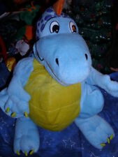 "13"" soft blue plush hand puppet Dragon/Dinosaur"