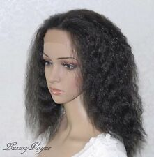 Handsewn Perruque FULL LACE FRONT Kinky Wigs 9118#1B