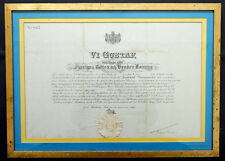 Sweden KING GUSTAF V Autograph SIGNED Diplomatic Consul POLAND Document / WW2