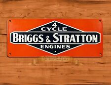 "TIN-UPS TIN SIGN ""Briggs & Stratton 4 Cycle"" Garage Engine RusticWall Decor"