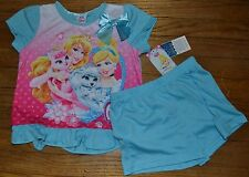 Disney Princess Palace Pets 2 Piece Summer Pajama Short Set Size 8 Licensed