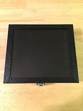 Black Jewelry Storage Box/Display Case With Glass Top and Removable Insert