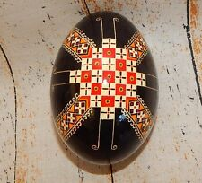 Real Ukranian Goose Pysanky Hand Made SIGNED Pysanka Easter Egg 117