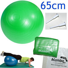 Msd PALLA PSICOMOTORIA ANTISCOPPIO 65cm+2 tappi VERDE Pilates GYM FIT SWISS BALL