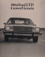 Ford LTD Crown Victoria 1984 USA Market Sales Brochure Sedan Wagon