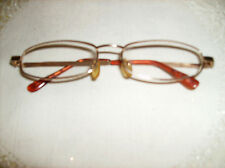 #C GOLD METAL READING GLASSES COMFORT FIT readers NEW 2.00 Deluxe New