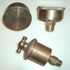 ANTIQUE VINTAGE HIT MISS GAS ENGINE LOT OF BRASS GREASE LUBRICATION CUPS