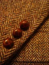 44 R Mens HARRIS TWEED Vintage Brown HERRINGBONE Wool Jacket Blazer Sportcoat !