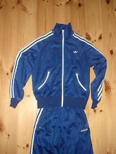 ADIDAS VINTAGE TRACKSUIT SIZE 40 S 1970s JACKET BOTTOMS FANCY FULL CUPRO d683d