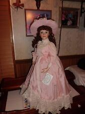 "Court of dolls Olivia 29"" tall Victorian porcelain doll w/stand free shipping"
