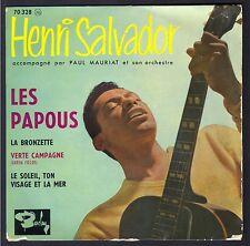 HENRI SALVADOR 45T EP Biem 1960 BARCLAY 70.328 LES PAPOUS