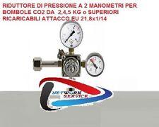 Riduttore di pressione con manometro per Bombola Co2 ricaricabile NUOVO