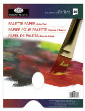"40 PAGE A4 OIL & ACRYLIC PAINT DISPOSABLE MIXING PALETTE PAPER PAD 9""x12"" RD358"