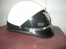 Police Riot type Helmet  By Super SEER - USA (Black & white) used with emblem