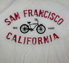 SAN FRANCISCO CALIFORNIA USA / RIDE HARD / BICYCLE CYCLING / T-SHIRT SIZE M
