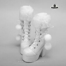 1/4 BJD Boots MSD Dod Dollfie MID EID AOD SOOM LUTS Shoes Snow white Boots 0280