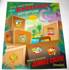 Disney Pin MAP BOARD✿Jungle Cruise Adventure Background Illustration for Frame