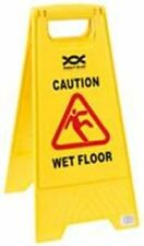 Wet Floor & Caution Cleaning In Progress Warning Hazard Sign Double Sided
