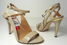 $119 size 7 Calvin Klein Meville Cocoon Leather Strappy Heel Ankle Strap Sandals