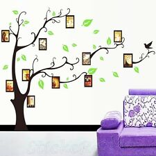 PHOTO FRAME GREEN TREE LEFT SIDE NEW ROOM WALL ART STICKERS DECAL HOME DIY DECOR
