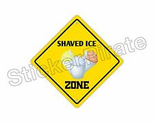 "*Aluminum* Shaved Ice Zone Funny Metal Novelty Sign 12""x12"""