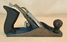 "STANLEY #4 HANDYMAN USA #H1204 STEEL WOODWORKING SMOOTH BENCH PLANE 9¾ "" x 2½"""