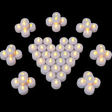 60pcs Candles Tealight Led Tea Light Flameless Flickering Wedding Battery Includ