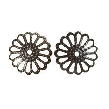 100x tapas de perlas perlkappen remates filigrana flores para 24mm perlas metal