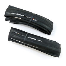 x2 Maxxis Rouler M3D 700x23C Road Racing Bike Clincher Tires Tyres - Black