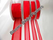 Luxury Satin Edge Organza Ribbon 10mm,25mm,38mm wide x 1. 3 or 5 metres