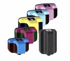 6 Pack Full Color High-Yield Ink Cart HP 02 With Chip For PhotoSmart C6280 C6250