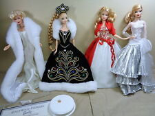 4 Collector Barbies Holiday 20th Anniversary Hollywood Premier Marilyn Dolls Lot