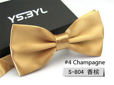 New Mens Champagne Bow Tie Neckwear Work Formal Tuxedo Business Bowtie Necktie
