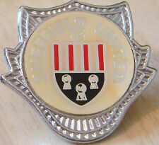 SHEFFIELD UNITED Vintage 70s 80s insert type Badge Brooch pin Chrome 33mm x 32mm