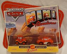Disney Pixar Cars Mini Adventures Team Lightning McQueen Sally & Lizzie NEW 2010