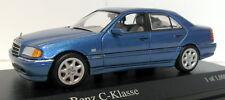 Minichamps 1/43 scale Diecast - 430 037000 Mercedes Benz C Class 1997 Blue met