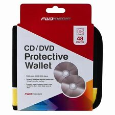 48 CD/DVD Car Disc Storage Wallet Holder Carry Case Pocket Sleeves Black/Yellow