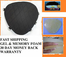 Motorcycle Gel Pad Driver Seat For Harley Davidson FLS Softail Slim & Softail