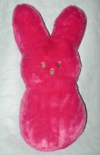 Peeps Bunny Hot Pink Pillow Large Plush Stuffed Animal Shaggy 16 inch Easter