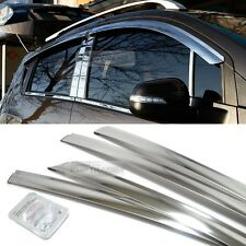 Stainless Chrome Window Sun Vent Deflector Visor Trim For KIA 13-16 Cerato Forte