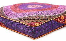 Oversized Floor Pillow Seating Ottoman Pouf Cover Indian Mandala Floor Cushion