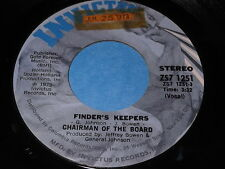 Chairman Of The Board: Finder's Keepers / Same 45 - Soul