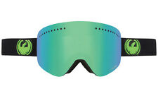 Dragon NFX Snow Goggles Jet Black/Green Ion Lens + FREE BONUS LENS