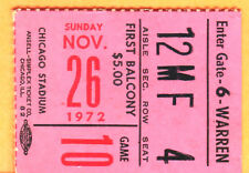 1972 CHI BLACKHAWKS VS. MONTREAL CANADIENS NHL HOCKEY TICKET STUB-11/26/72