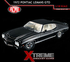 ACME A1801205 1:18 1972 PONTIAC LEMANS GTO STARLIGHT BLACK RAM AIR