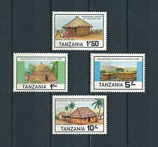 Tanzania #250-53 MNH, Traditional Houses, 1984